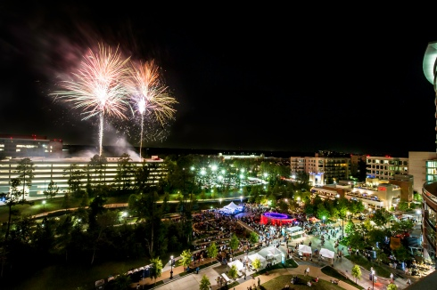 Waterway Square Fireworks 2012